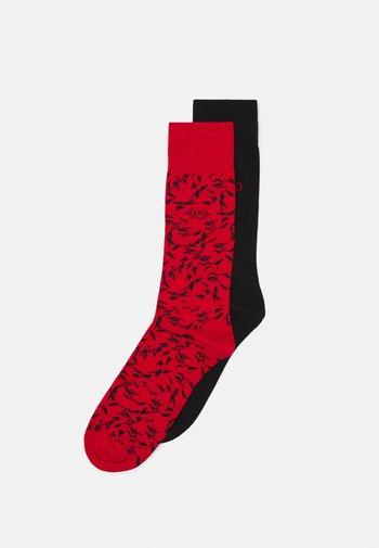 2 PACK - Ponožky - red/black