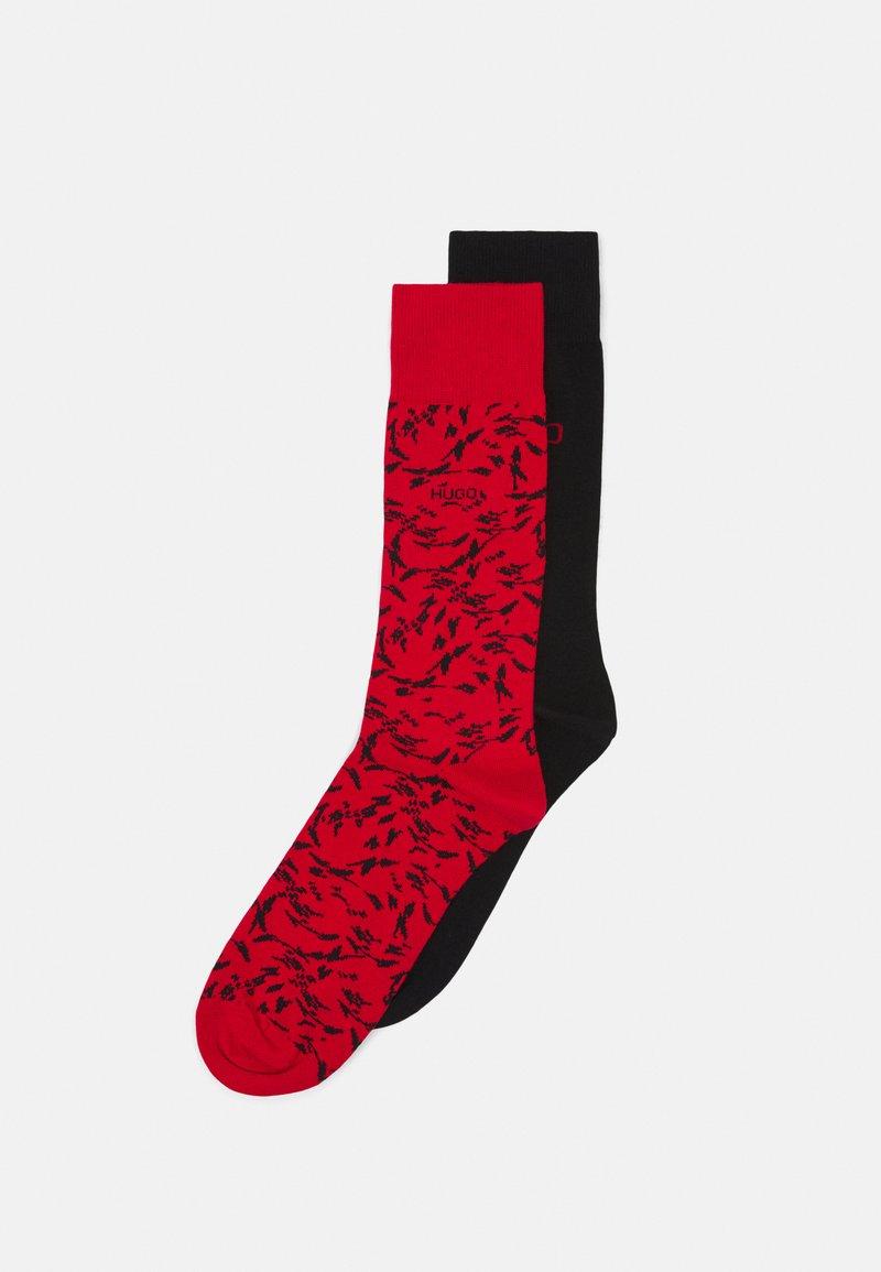 HUGO - 2 PACK - Ponožky - red/black