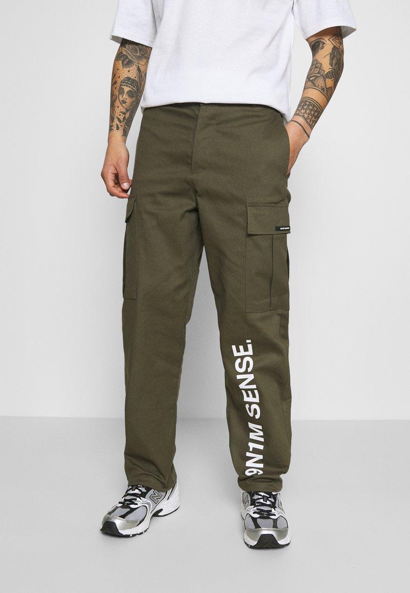 9N1M SENSE - PANTS UNISEX - Pantalon cargo - khaki