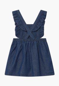 Benetton - DUNGAREE - Denim dress - blue - 1