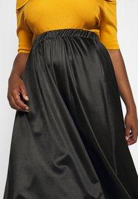 Vero Moda Curve - VMNIMI MIDI SKIRT - A-line skirt - black - 4
