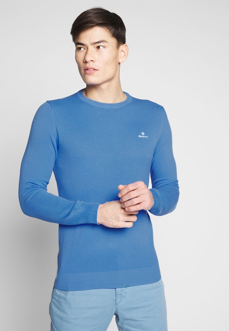 GANT - C NECK - Svetr - pacific blue
