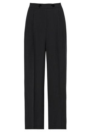 HIGH-WAIST - Trousers - zwart