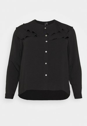 VMWIGGA COLLAR - Button-down blouse - black