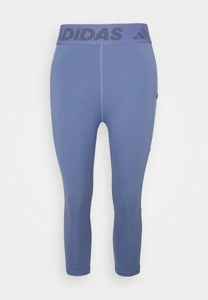 3 BAR TECHFIT AEROREADY TIGHT - Pantalón 3/4 de deporte - orbit violet/ambient blush