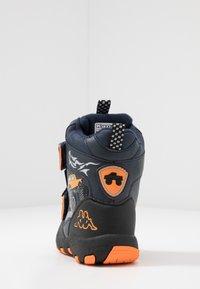 Kappa - BIG WHEEL TEX - Winter boots - navy/orange - 3