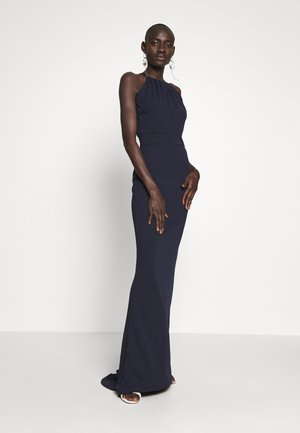 TALL MAXI HALTER NECK DRESS - Sukienka letnia - navy