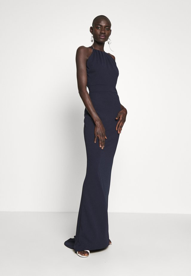 TALL MAXI HALTER NECK DRESS - Day dress - navy