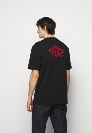 BOXY TEE BACK  - Print T-shirt - black