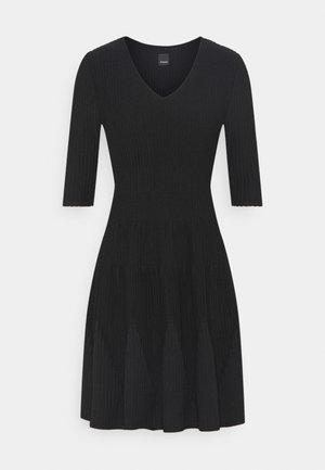 RIGORE ABITO MISTO - Stickad klänning - black