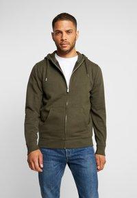 Solid - MORGAN ZIP - Zip-up hoodie - olive - 0