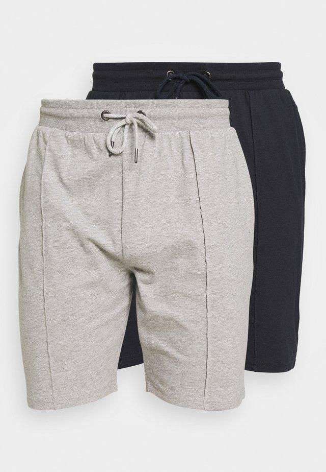 SMART 2 PACK - Shorts - navy/grey marl