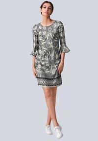 Alba Moda - Day dress - schwarz off white - 1