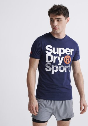 Print T-shirt - dress blue
