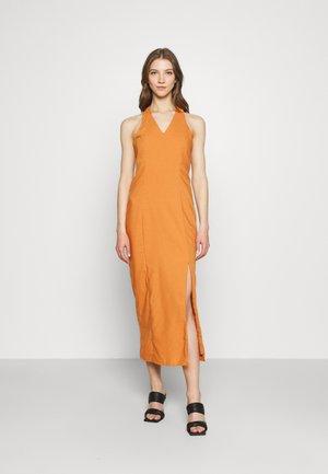 MAYA HALTER NECK DRESS - Maxi dress - rust