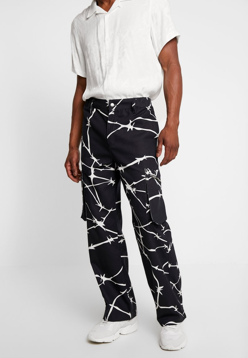 Jaded London - WIRE PRINT TROUSERS - Cargobroek - black