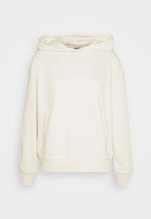 POCKET DETAIL HOODIE - Mikina s kapucí - off white
