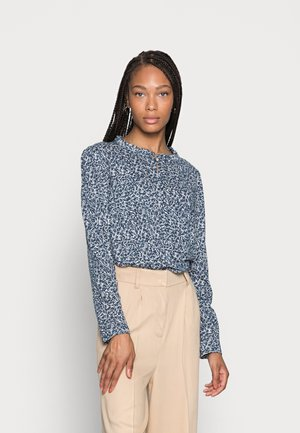Blouse - blue/offwhite