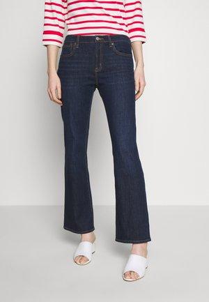PEARL - Bootcut jeans - dark rinse