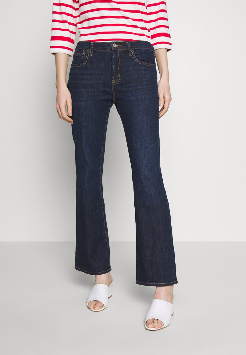 GAP - PEARL - Bootcut jeans - dark rinse