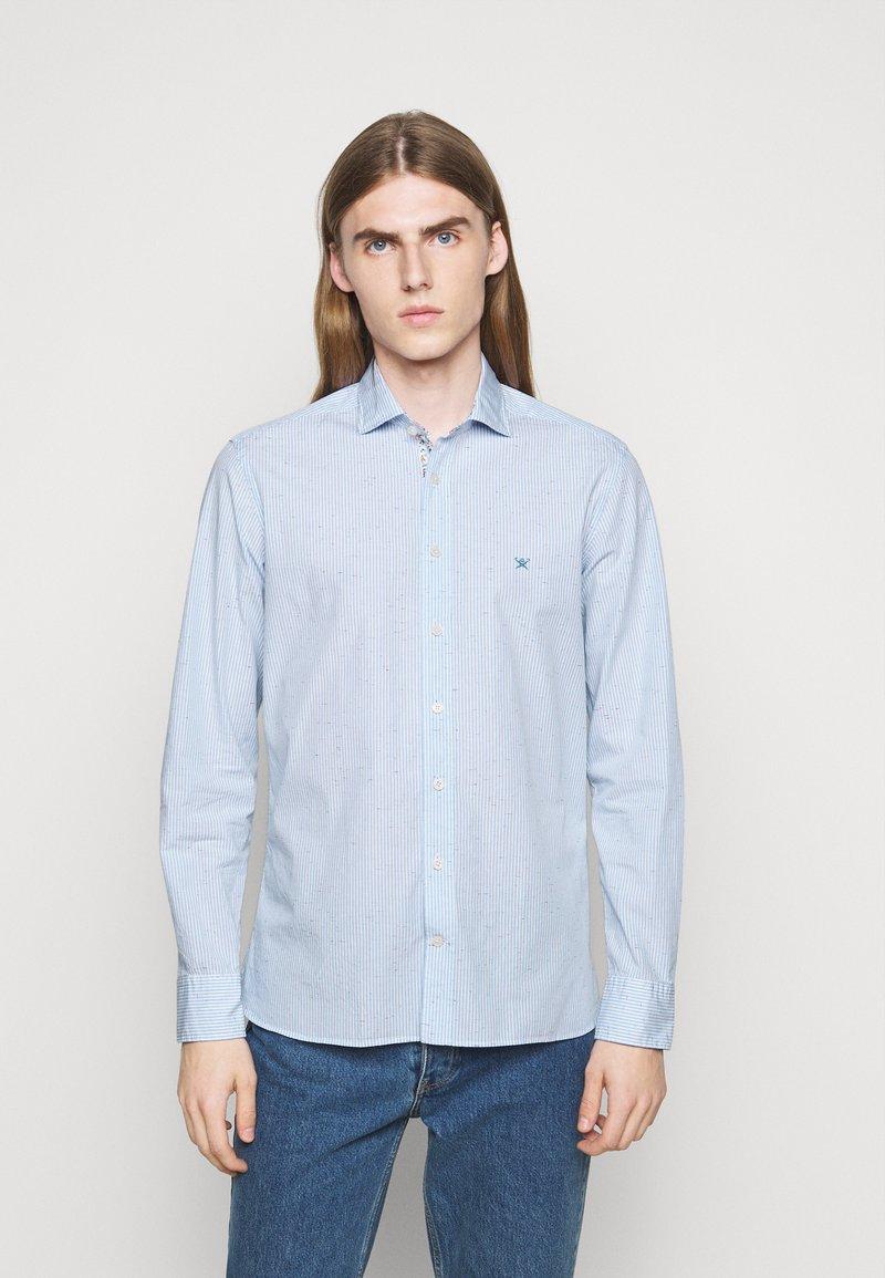 Hackett London - SLIM FIT - Shirt - sky/multi-coloured
