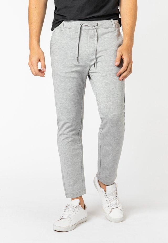 Trousers - light-grey