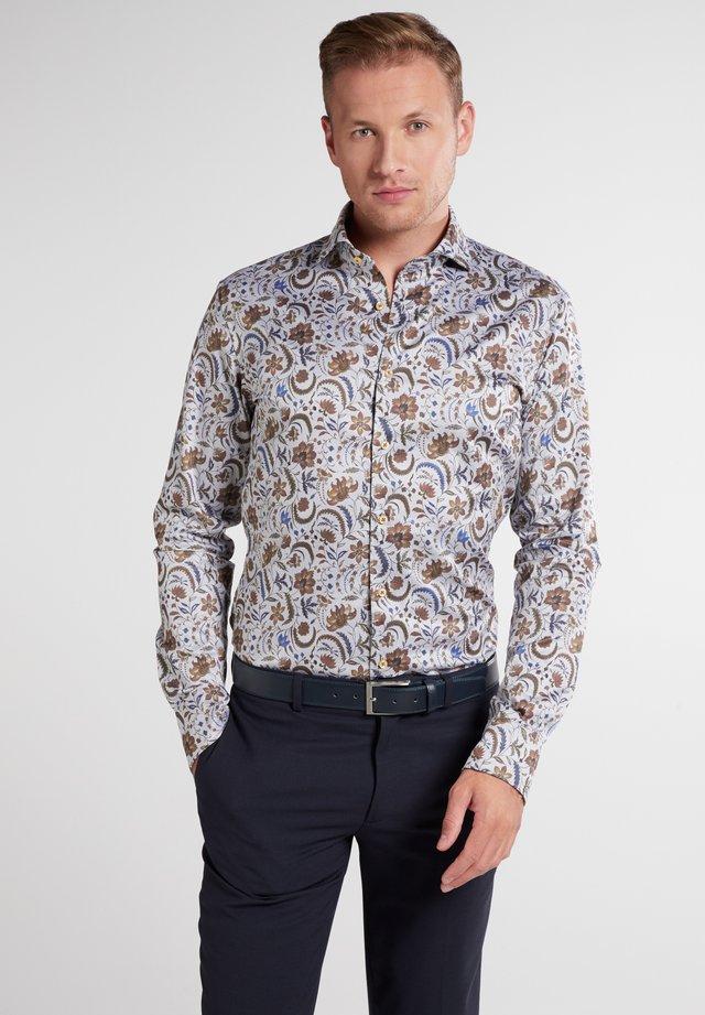 SLIM FIT - Overhemd - braun grau