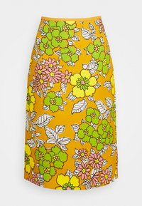 Tory Burch - PRINTED PENCIL SKIRT - Pencil skirt - rust wallpaper - 0