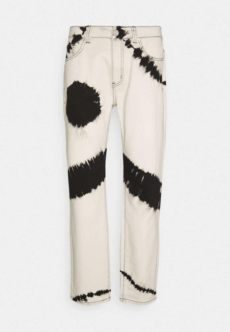 Mennace - TIE DYE RELAXED - Jeans baggy - white