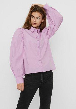 Button-down blouse - violet tulle