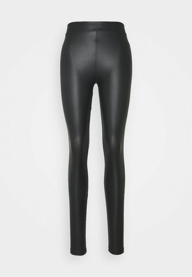 WET LOOK - Legging - black