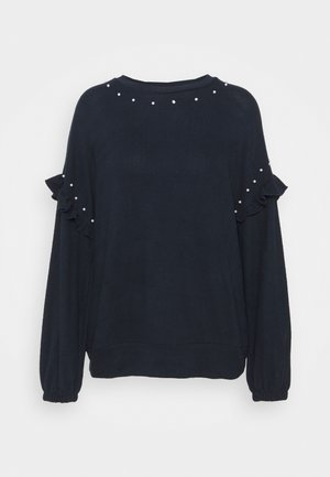 FRILL CUT SEW JUMPER - Jumper - ink