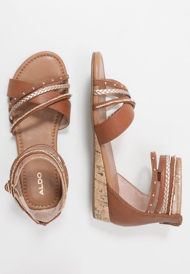 COWLING - Sandals - medium brown