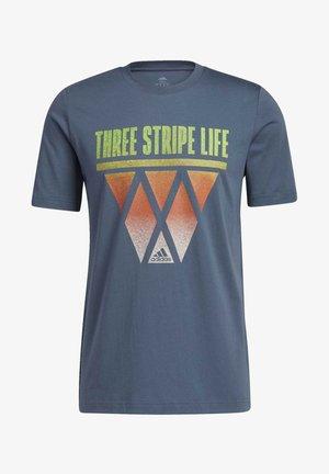 STRIPES HOOPS T-SHIRT - Print T-shirt - green