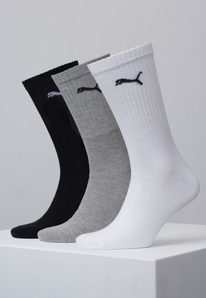 3 PACK - Socks - white/grey/black