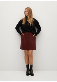 Violeta by Mango - SIENNA - Pencil skirt - rot - 1