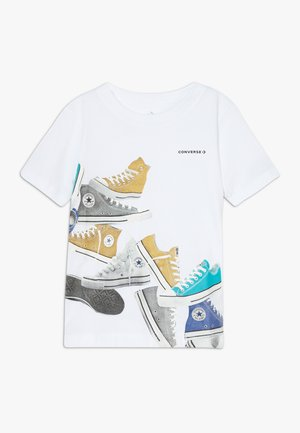 ASCENDING SNEAKERS TEE - Print T-shirt - white