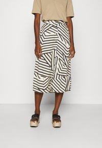 Moss Copenhagen - AVIANNA RAYE SKIRT - A-line skirt - beige - 0