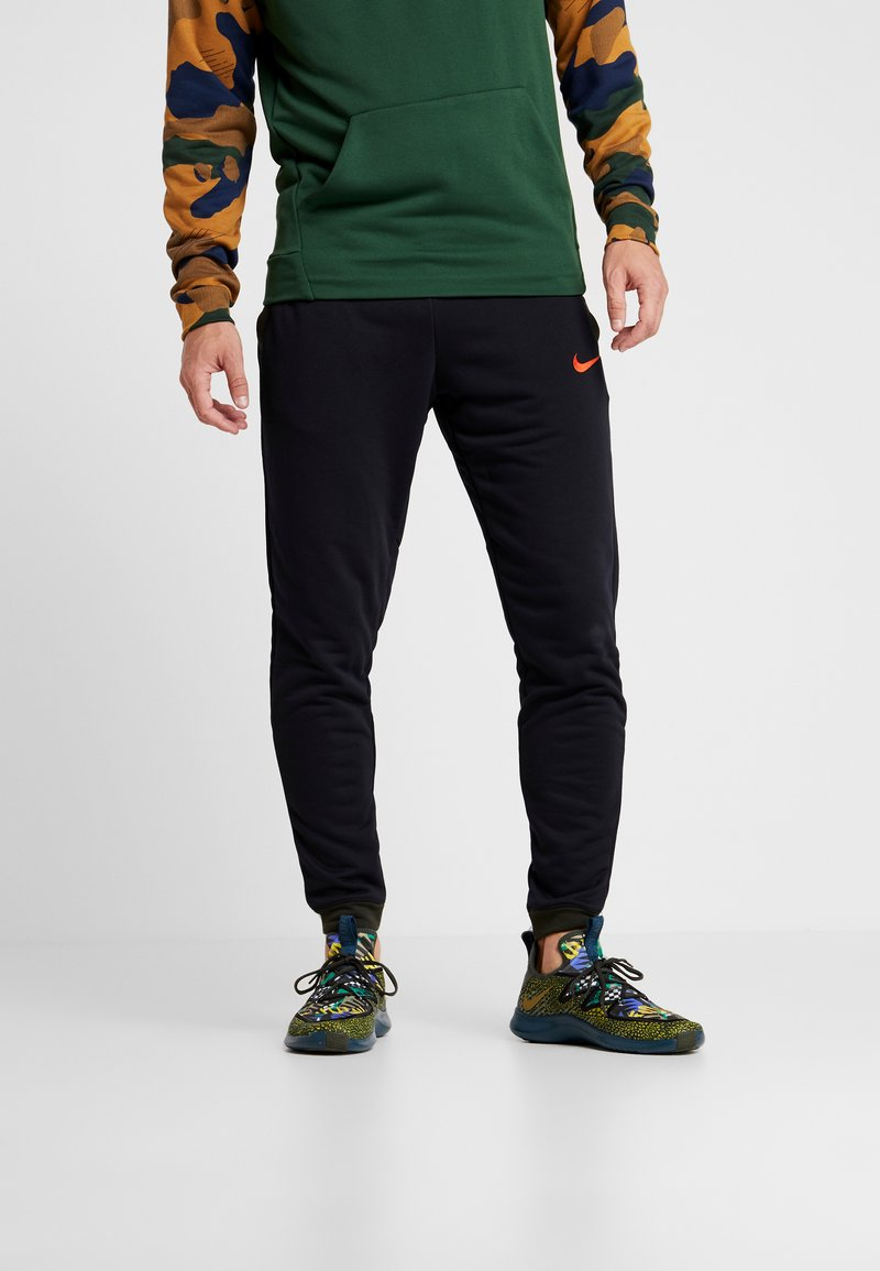 Nike Performance - Trainingsbroek - black/sequoia/electric green/habanero red