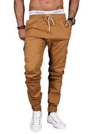 DESIGNER - Cargo trousers - camelfarben