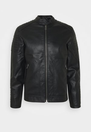 LANGARM - Faux leather jacket - black
