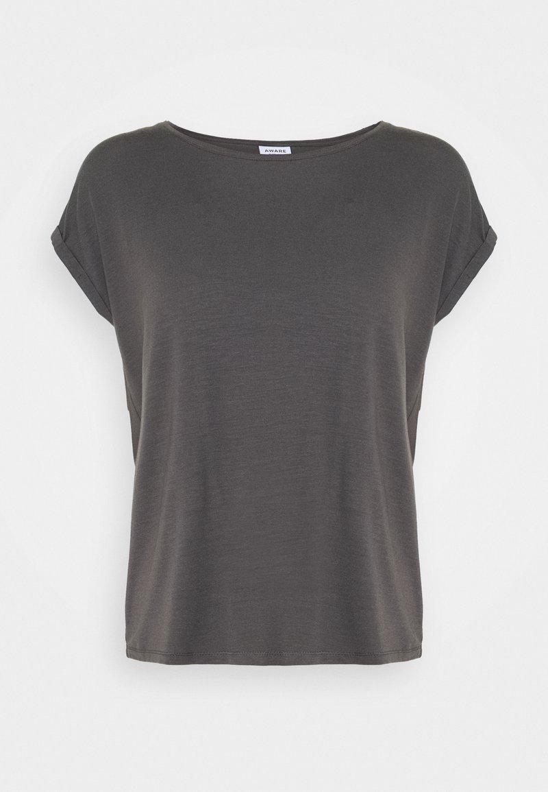 Vero Moda Petite - VMAVA PLAIN - Basic T-shirt - asphalt