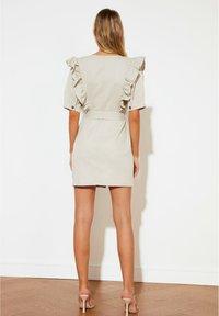 Trendyol - PARENT - Shift dress - beige - 4