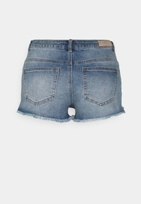 ONLY - ONLCARMEN LIFE - Denim shorts - medium blue denim - 1