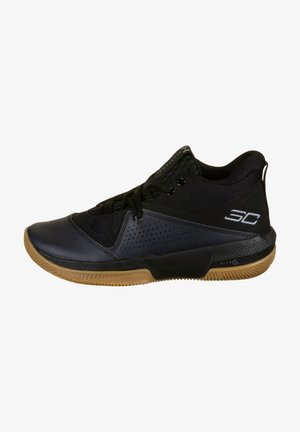Chaussures de basket - black / black / steel