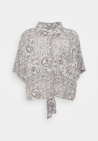 CORE TIE FRONT - Button-down blouse - natural