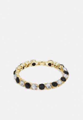 PCLALLY BRACELET - Bracelet - gold-coloured/black/clear