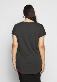Even&Odd Curvy - T-shirts med print - black/blue/white - 2