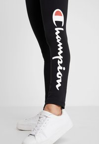 Champion - LEGGINGS - Legginsy - black - 5