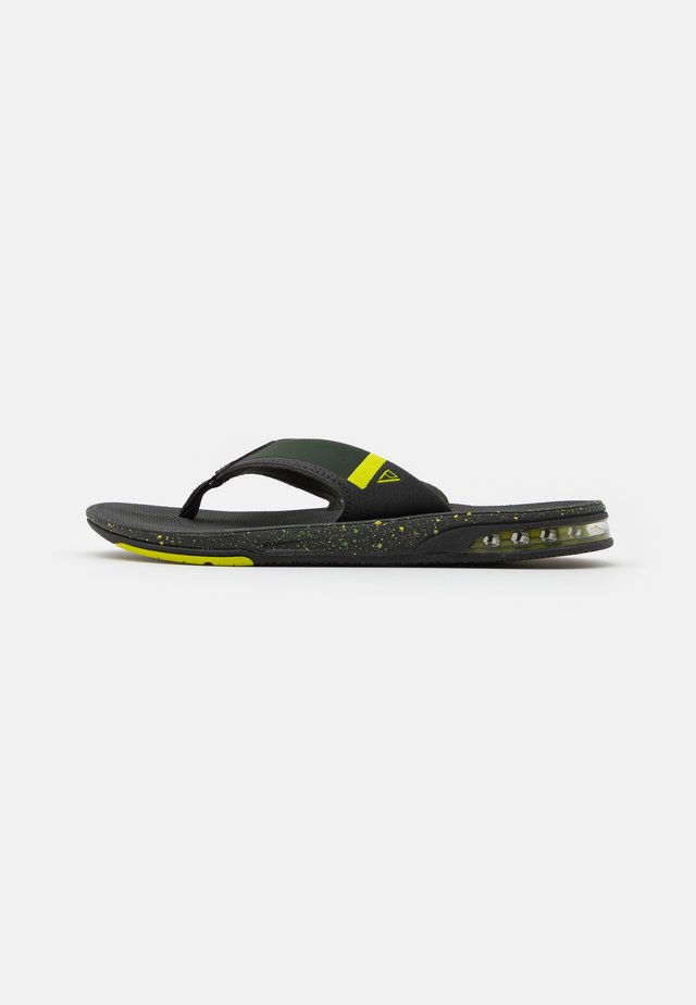 FANNING LOW - T-bar sandals - duffle lime